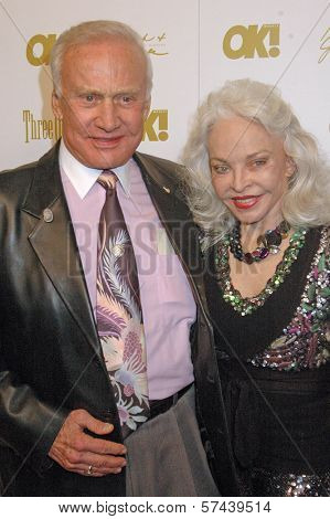 Buzz Aldrin and wife Lois at the OK Magazine Pre-Oscar Party, Beso, Hollywood, CA. 03-05-10