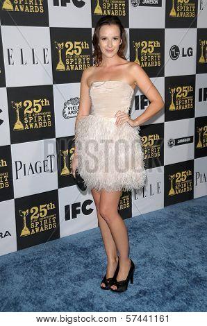 Claire Van Der Boom at the 25th Film Independent Spirit Awards, Nokia Theatre L.A. Live, Los Angeles, CA. 03-06-10