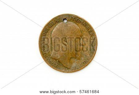 Defaced Vintage 1909 Edward Vii British Penny
