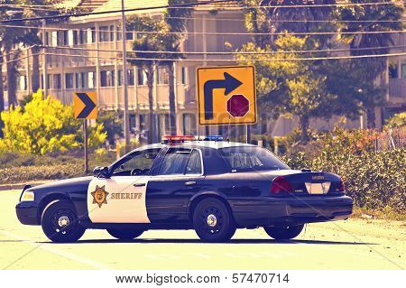 California Police Cruiser
