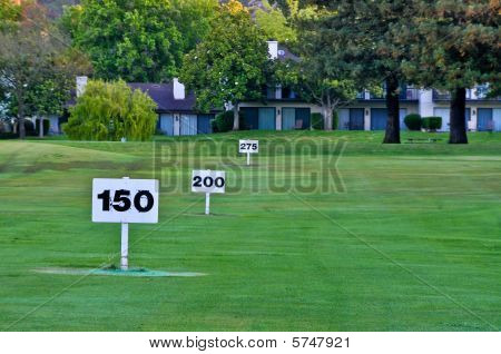 Goal Markers On Driving Range
