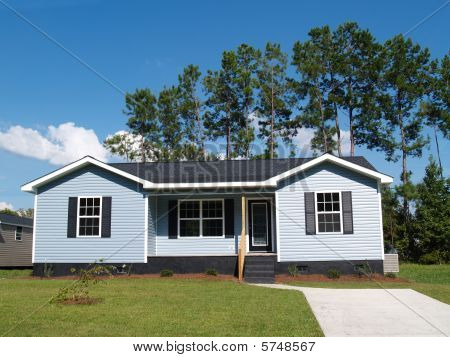 Blue Low-Income Home