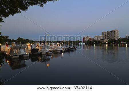 Orlando Skyline, Lake Eola Park