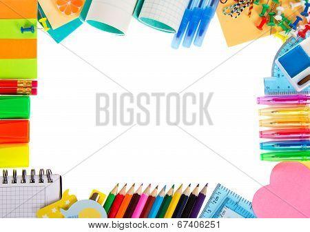 Felt-tip pens, paints and the scratch paper