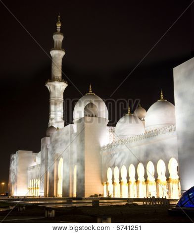 Grand Mosque In Night