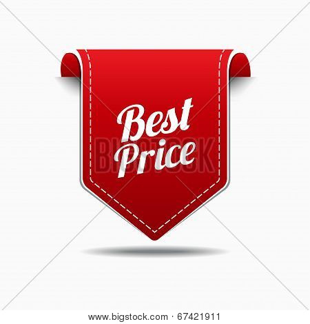 Best Price Red Label Icon Vector Design