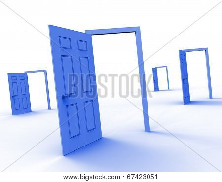 Doors Choice Representing Doorframe Doorway And Direction poster