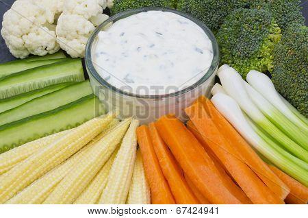 Vegetable Crudites and Dip