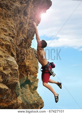 Man Caught On A Rock