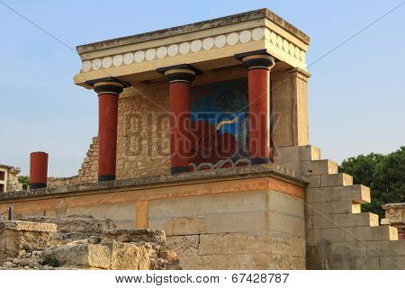 Ancient Ruins Of Knossos Palace Crete