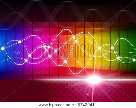 Waveform Spectrum Represents Color Guide And Abstract
