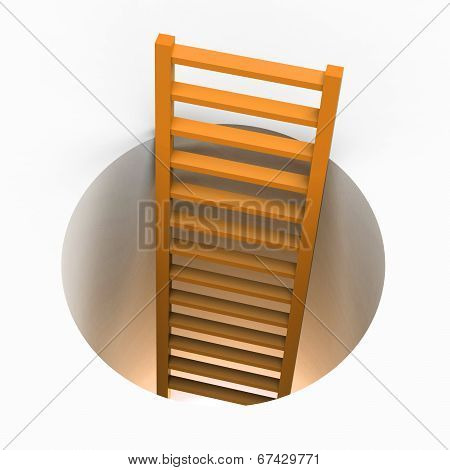 Ladder Escape Indicates Get Away And Elude