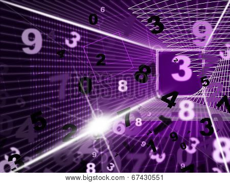Mathematics Numbers Shows High Tec And Digits
