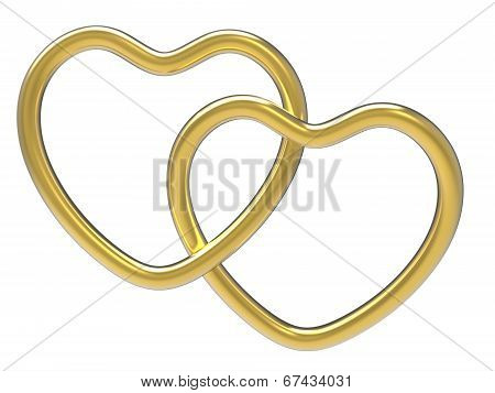 Wedding Rings Indicates Valentine Day And Eternity