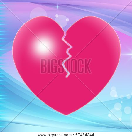 Broken Heart Represents Valentine Day And Broken-heart