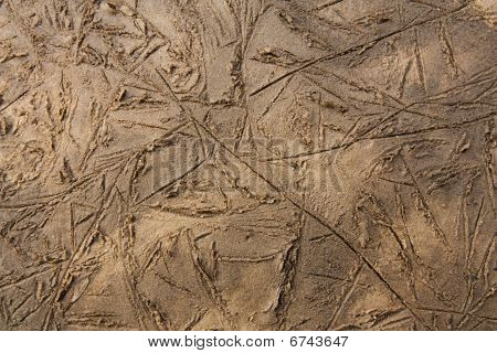 poster of texture of brown mud after the floods