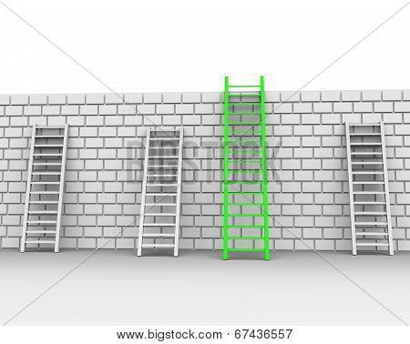 Brick Wall Represents Chalenges Ahead And Brickwall