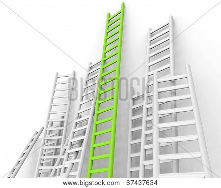 Ladders Obstacle Indicates Overcome Obstacles And Challenge
