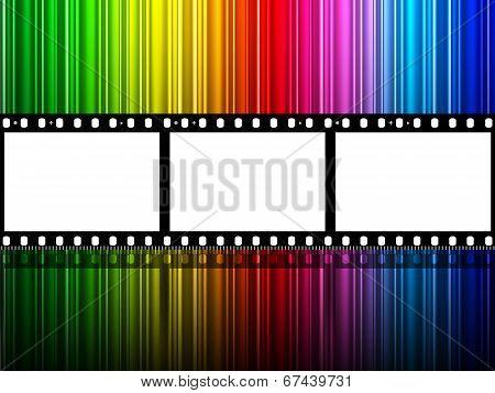 Filmstrip Copyspace Indicates Colour Splash And Color