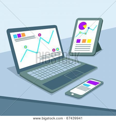 Web Analytics Concept Vector Illustration