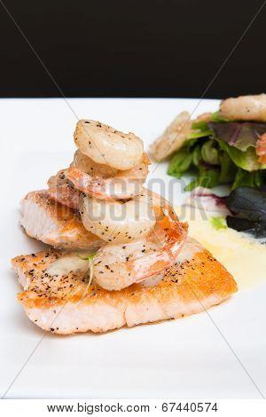 Shrimp And Salmon