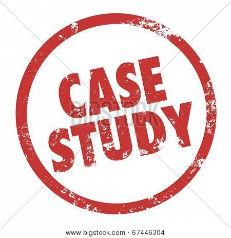Case Study words circle round stamp business example anecdote principle lesson