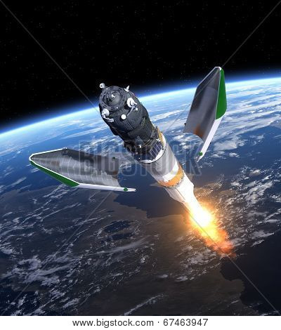 Launch Of Cargo Spacecraft