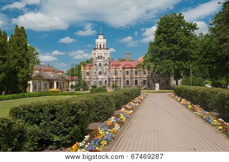 Neogothic Sigulda New Castle in Latvia was built in 1878