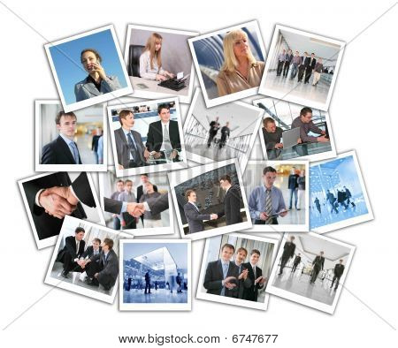 viele Business Fotos, collage