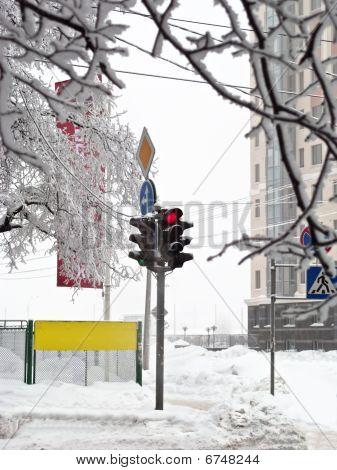 Winter Stoplight