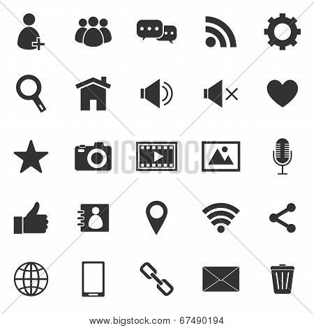 Chat Icons On White Background