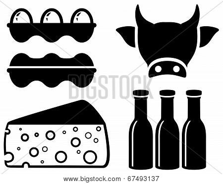 set food icon for milk production