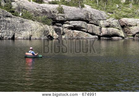 Fisherman On Lake Mills