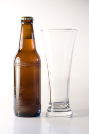 Beer with glass