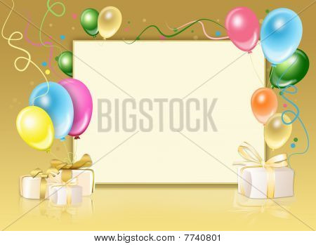 Festive Background From Balloons
