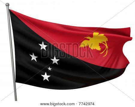Papua New Guinea National Flag