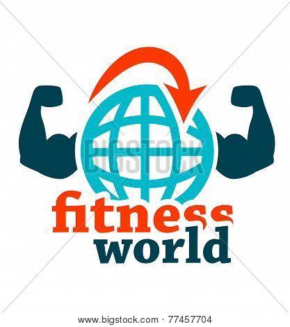 fitness world icon