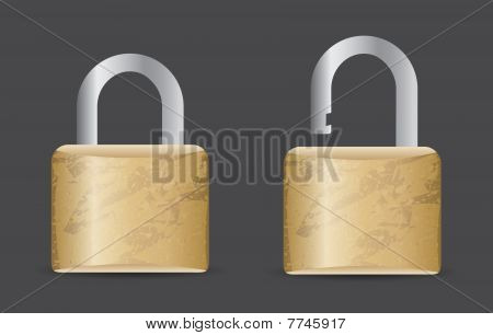 Locked and unlocked icons