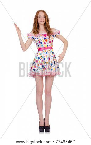 Woman in fashion clothing concept