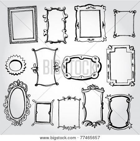 Set of Different Frames