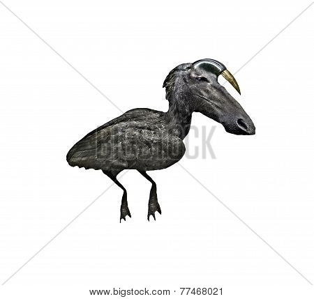 Dark Horsebird Creature Digital Art