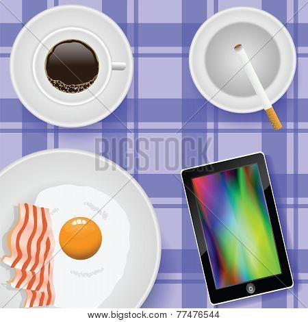 Breakfast With Eggs And Bacon