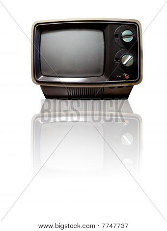 Retro Tv With Reflection