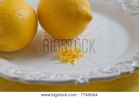 Two Lemons With Lemon Zest