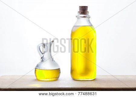 Olive Oil Bottle And Cruet