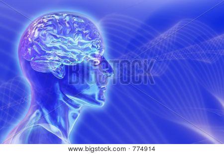 Gehirnwellen Hintergrund 3