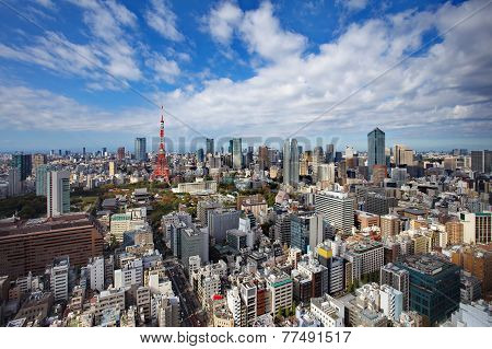 Tokyo Tower and Tokyo city view