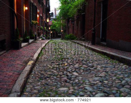 Beacon Hill's Acorn Street