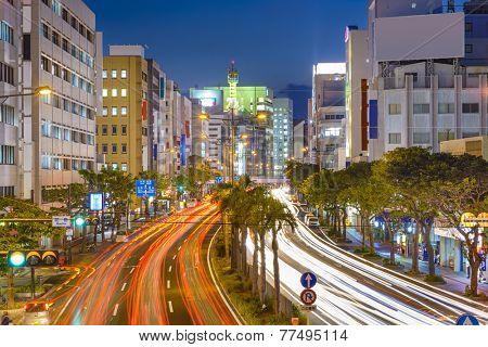 Naha, Okinawa, Japan downtown cityscape.
