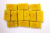 South Indian sweets or dessert called Mysore pak made from gram flour, sugar and clarified butter poster